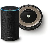 【Amazon.co.jp 限定】アイロボット ロボット掃除機 ルンバ891 R891060 +Amazon Echo (Newモデル)、チャコール (ファブリック)