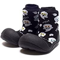 Attipas Halloween Baby Walker Shoes, Black, Large