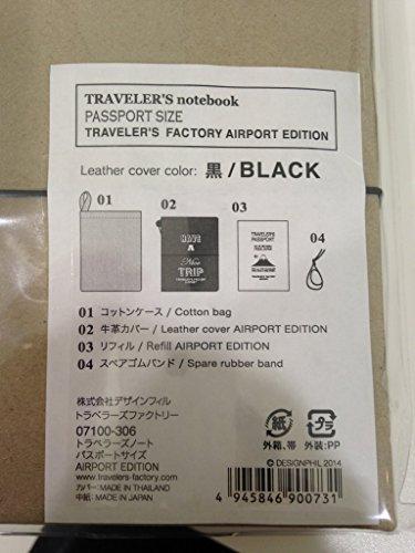 トラベラーズノート パスポートサイズ スターターキット【茶】 15027-006