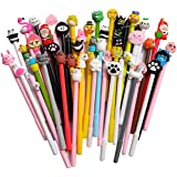 24 pack Cute Cartoon Gel Black Ink Pens Assorted Style Writing Pens for Birthday Present School Prize Student Gift Fun Girl P