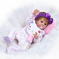 20 Inch 50cm Realistic Full Body Vinyl Soft Silicone Reborn Baby Girl Doll Toddler Handmade Real Life Like Newborn Baby Dolls Anatomically Correct Christmas Gift