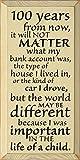 木製サイン???100年からNow , It Will Not Matter What My銀行口座was。。。 18x9 ベージュ 4260az-CRM