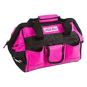 かわいいピンクの工具用バッグ 大工女子必見!(工具、ガーデニングツールなどの収納に) (12インチ(約30cm)) [並行輸入品]