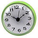 クロックス メンズ YIFAN ミニクロック 掛け時計 壁時計 家庭用 吸着タイプ  防水防霧 ラウンド 緑色