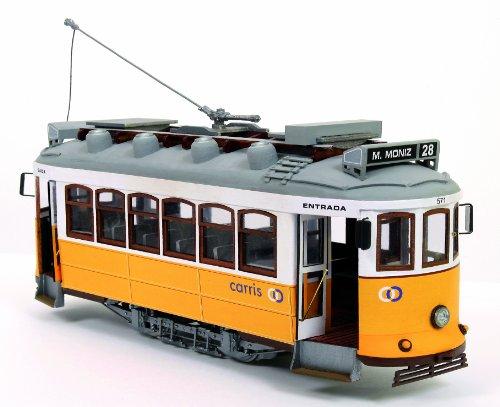 路面電車 リスボン(木製模型キット)和訳付き