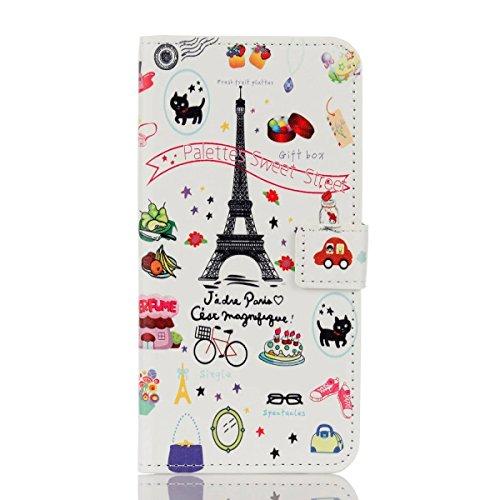 iphone7 plus ケース レザーケース おしゃれデザイン バラエティ かわいい 手帳型ケース 手帳 カバー スマホケース アイフォン7 プラスケース 保護ファイル+タッチペン付き (iphone7 plus)