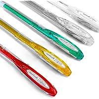 UNI - BALL SIGNO Glitter &パステルペン–セットof 5Assorted Sparkling &パステルGelインクローラーボールペン
