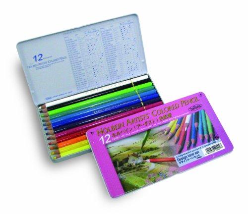 ホルベイン アーチスト色鉛筆 12色セット デザイントーン