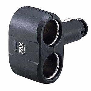 カーメイト(CARMATE) 増設ソケット ダイレクト2連ソケット ブラック CZ258