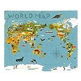 TABI CLOTH スマホや眼鏡をピカピカにするクロス ワールドマップ 5212001WM