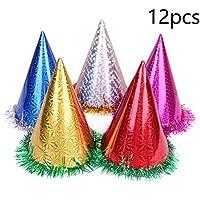 12個 誕生日パーティーハット クラウンキャップ 子供用 誕生日パーティー装飾