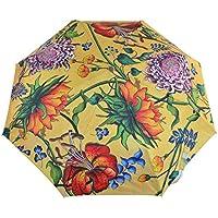 "Anuschka Umbrella AUTO Open/Close - UPF 50+ Max Sun protection - 38"" Waterproof Canopy - Fits in Handbag - Windproof Flexible Fiberglass"