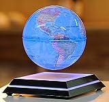 GXFC 浮かぶ地球儀 浮遊・回転型の地球儀 青色LEDで美しくライトアップ