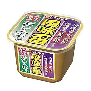 ハナマルキ だし入り風味一番 味噌 750g