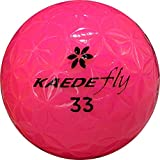 KAEDE ゴルフボール (カエデフライ)非公認球 1ダース ピンク プラス20ヤードを実現!レディースにも人気!