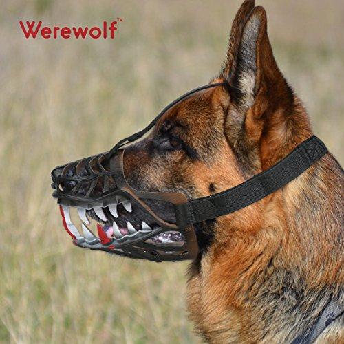 犬マスク Werewolf 口輪 犬用 セーフティマスク 拾い食い防止 無駄...