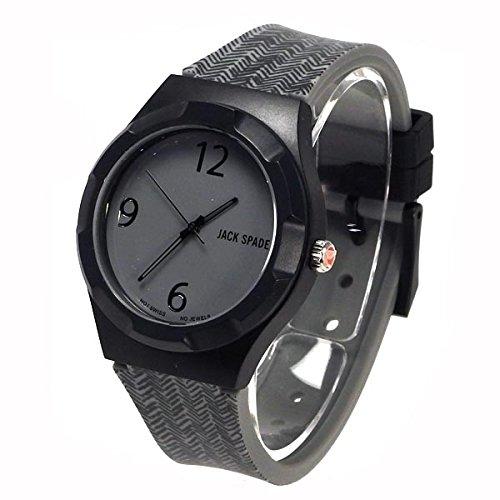 [取り寄せ品](ジャックスペード) JACK SPADE 時計 腕時計 メンズ グレー ケース グレー 文字盤 プラスチック ケース ラバー ベルト wuru0075 ブランド [並行輸入品]