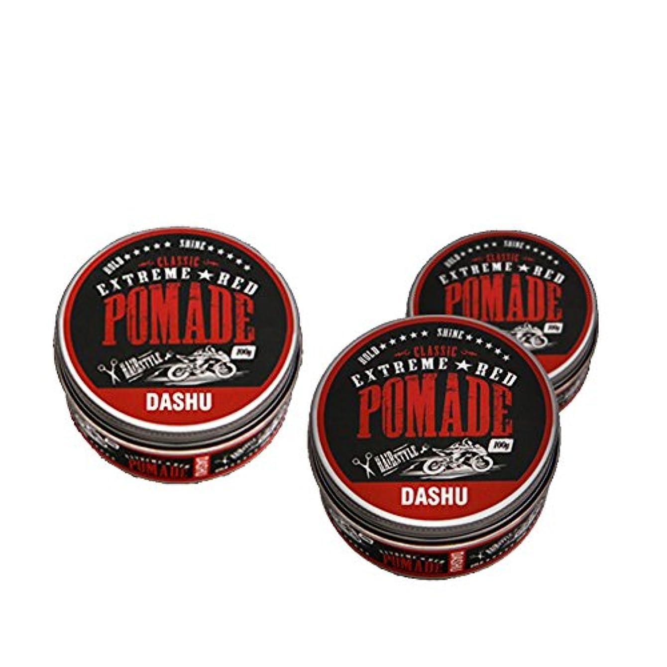 代替ショートカット細断(3個セット) x [DASHU] ダシュ クラシックエクストリームレッドポマード Classic Extreme Red Pomade Hair Wax 100ml / 韓国製 . 韓国直送品