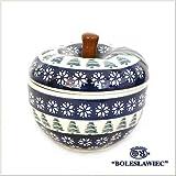 [Zakłady Ceramiczne Boleslawiec/ザクワディ ボレスワヴィエツ陶器]リンゴのポット12.5cm-914 (ポーリッシュポタリー)
