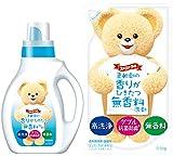 【まとめ買い】 ファーファ 液体洗剤 香りひきたつ無香料 本体 1.0kg+詰替用 0.9kg