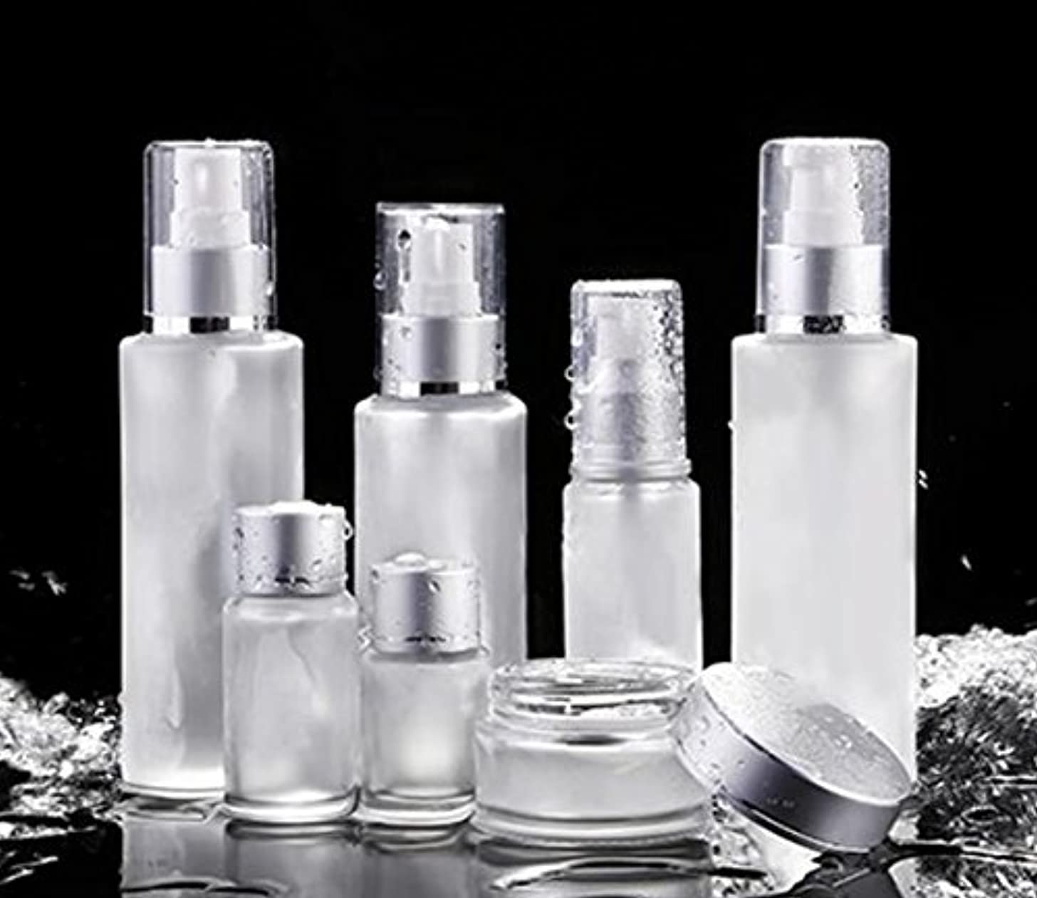 トラブルクスクス接地ShopXJ 化粧水 容器 スプレー 詰め替え 携帯 ボトル プッシュ ボトル 旅行 お出かけ 外泊に (50ml)