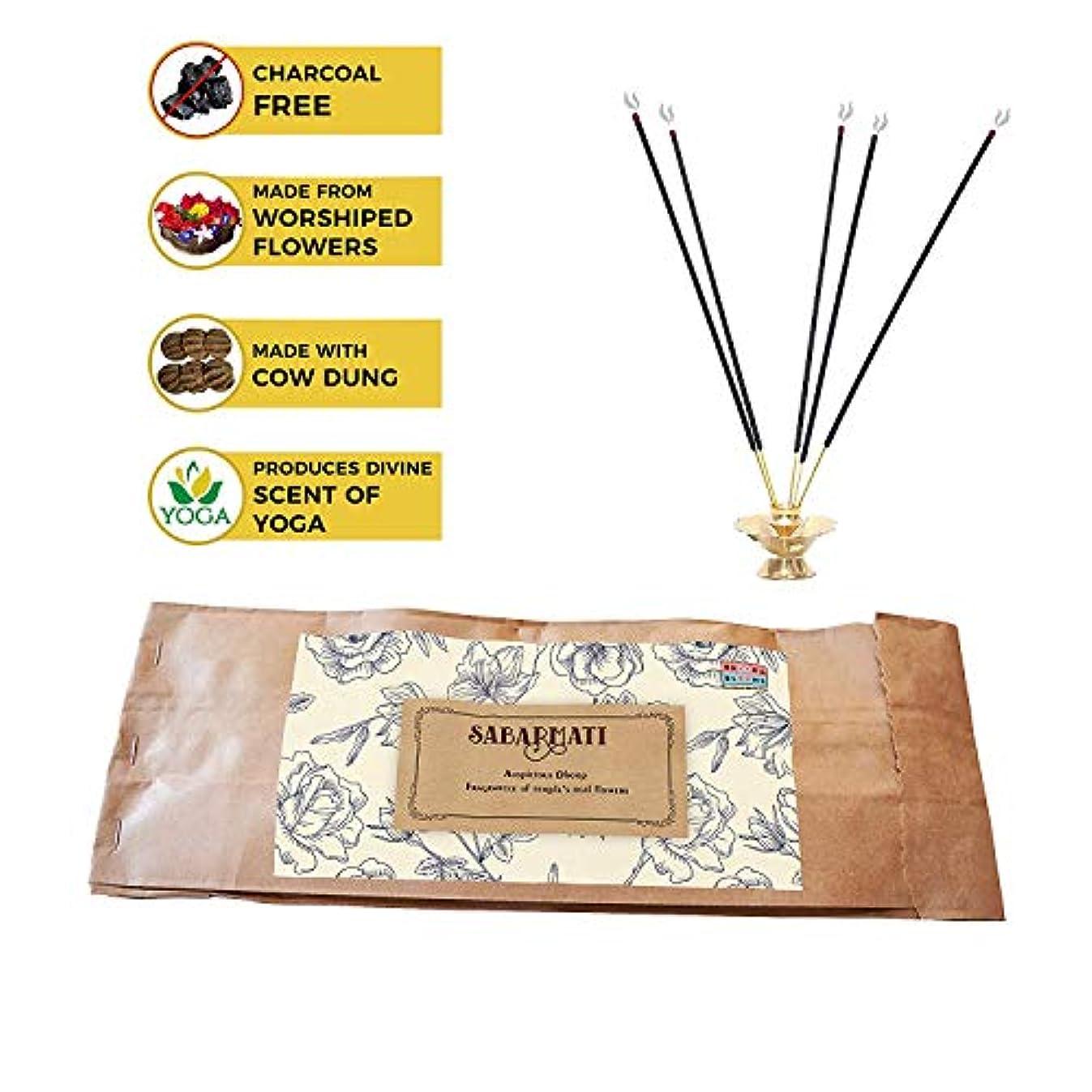 結婚した簿記係励起Brook and Blooms Oragnic and Non Toxic Natural Ayurvedic Incence Sticks/Agarbatti Stick Made of Upcycled Flower