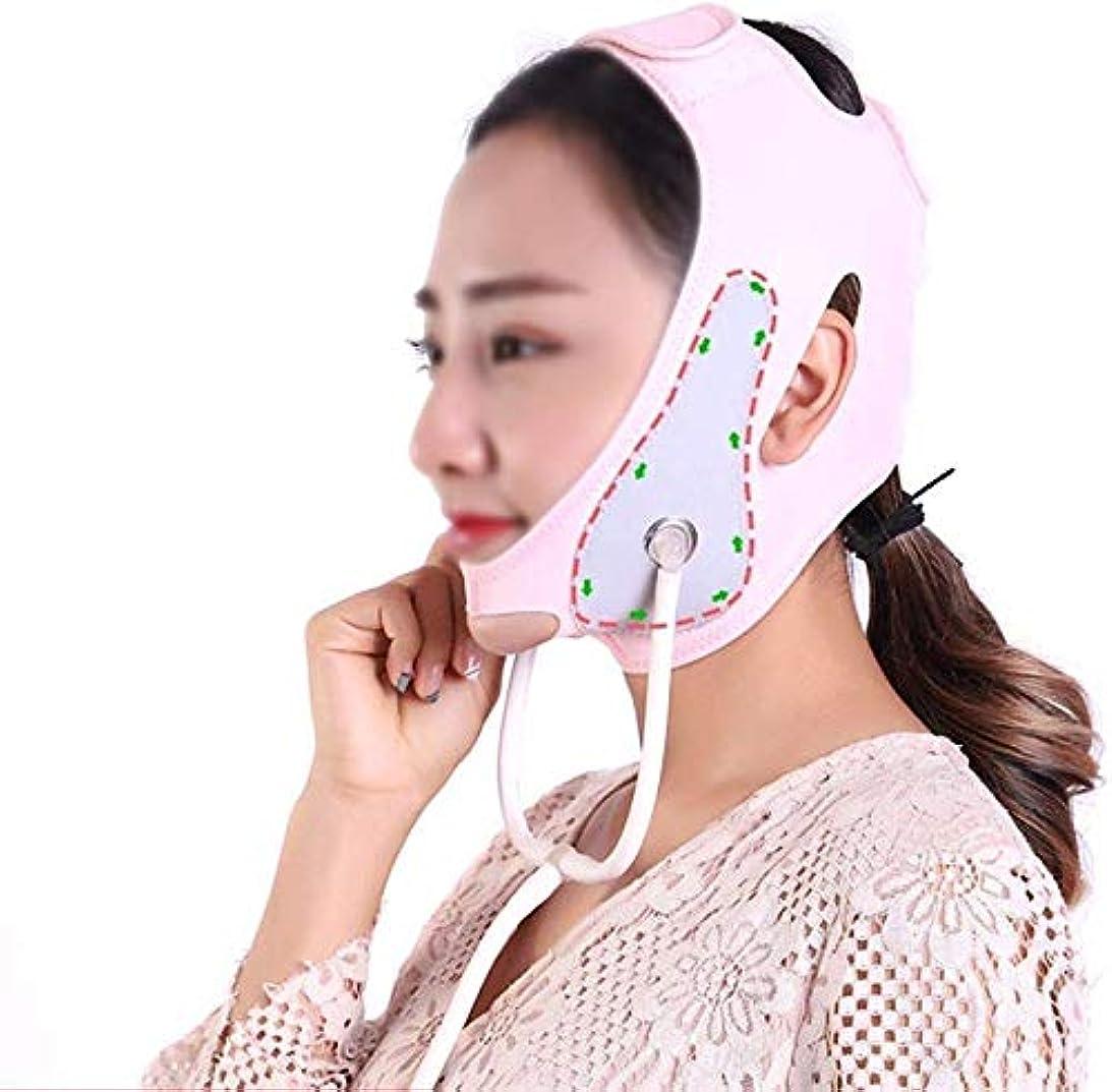 パワーセル聴覚障害者競う美容と実用的なフェイスアンドネックリフトポストエラスティックスリーブ薄いフェイスマスク引き締め肌の改善マッサージ師リフティング収縮薄いフェイス弾性包帯Vフェイスアーティファクト