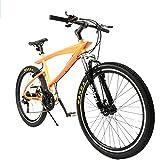 クロスバイク マウンテンバイク 26インチ シマノ21段変速 軽量アルミ製フレーム付き デュアルブレーキ設計 PL保険加入 オレンジ RS-17OR