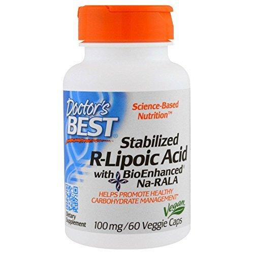 Doctor's Best ベスト 安定型 R型 アルファ リポ酸 Na-RALA 100mg 60ベジカプセル ドクターズベスト Doctor's Best