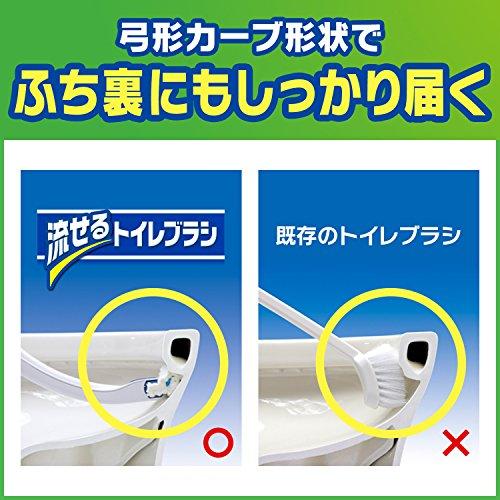 『スクラビングバブル トイレ洗剤 流せるトイレブラシ 付替用24個セット』の3枚目の画像