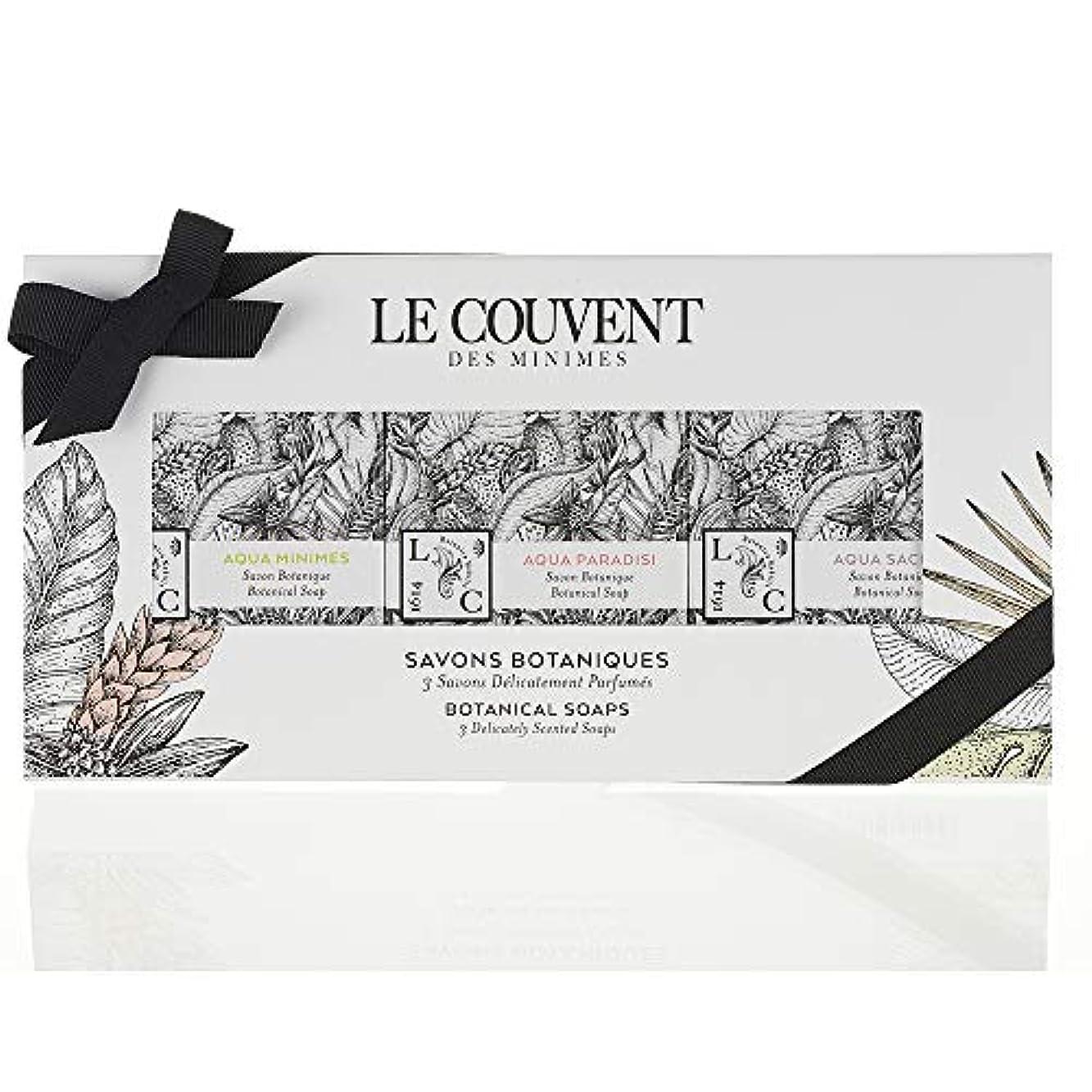 高齢者依存するに勝るクヴォン?デ?ミニム(Le Couvent des Minimes) ボタニカル ソープセット 石鹸 アクアミニム ボタニカルソープ、アクアパラディシ ボタニカルソープ、アクアサクラエ ボタニカルソープ各50g