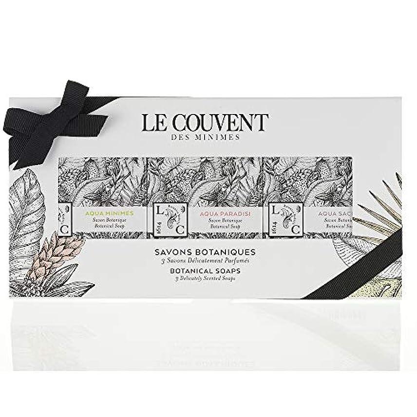 光景お手入れ七面鳥クヴォン?デ?ミニム(Le Couvent des Minimes) ボタニカル ソープセット 石鹸 アクアミニム ボタニカルソープ、アクアパラディシ ボタニカルソープ、アクアサクラエ ボタニカルソープ各50g