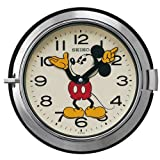 (セイコークロック) SEIKO CLOCK 大人 ディズニー クォーツ壁掛け時計 FS504S ミッキーマウス 防塵型 レトロ調 スチール 銀色 アナログ