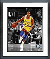 "Magic Johnson Los Angeles Lakers NBA Action Photo (Size: 26.5"" x 30.5"") Framed"