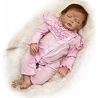 PursueベビーハンドメイドリアルなWeighted Rebornベビー人形、22インチソフトビニールLifelike新生児赤ちゃんガールズPoseable with磁気口