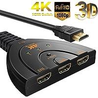 LPMS HDMI切替器 HDMIセレクラー 4K*2K HDMI分配器 切り替え器 3入力1出力 hdmiスイッチ パソコン PC PS3 Xbox 3D/1080P AppleTVゲームなどの対応 メーカー保証付き