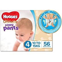 Huggies Ultimate Nappy Pants, Boys, Size 4 Toddler (10-15kg), 56 Count