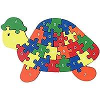 おかしいデジタル&レター木製ブロックパズル教育パズル亀