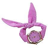 PolytreeレディースGirl 's花柄布バンドフラワードレスクォーツ腕時計(タイプ21)