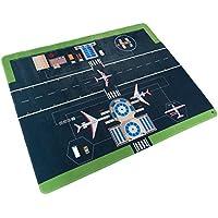 Non Slipマイクロファイバーフランネルフリース& Foam Airport Play Mat–Large 5ft x 4ftサイズ。