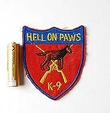 アメリカ軍 K-9 警察犬 パッチ ワッペン ベトナム戦争 エンブレム ナム戦 ベトナム