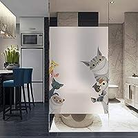 プライバシー ウィンドウ フィルム,プライバシーのウィンドウ,静的ウィンドウしがみつく防水 Foradhesive の浴室のためのガラス窓の装飾 キッズルーム 引き戸-A 45x80cm(18x31inch)