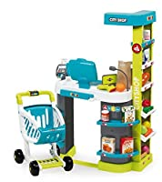 Smoby Smoby Roleplay City Shop with 41 accessories and Electronic Cash Register 34-Inch Green Playset 【You&Me】 [並行輸入品]