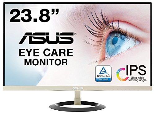 ASUS フレームレス モニター 23.8インチ IPS 薄さ7mmのウルトラスリム ブルーライト軽減 フリッカーフリー HDMI,D-sub スピーカー VZ249H