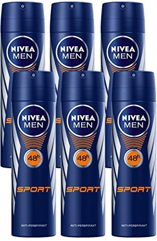 戦争勝者有彩色のNivea for Men Sport Deodorant/Antiperspirant Spray 150ML (6 Pack) - 並行輸入品 - Nivea for Menスポーツデオドラント/制汗剤スプレー150ML...