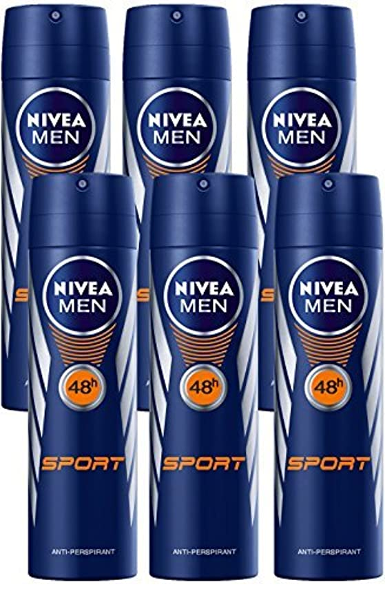 団結するブルーベルパッケージNivea for Men Sport Deodorant/Antiperspirant Spray 150ML (6 Pack) - 並行輸入品 - Nivea for Menスポーツデオドラント/制汗剤スプレー150ML...
