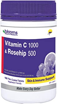 Henry Blooms 1000 mg Vitamin C and 500 mg Rosehip 180 Tablets