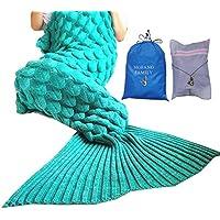 [モーファンファミリー]MOFANG FAMILY Soft Mermaid Tail Blanket Sofa Quilts Sleeping Bag for kids Adult 71x36 SCALE GREEN [並行輸入品]
