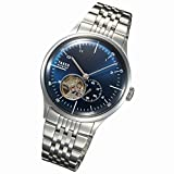 TAKEO KIKUCHI タケオキクチ 腕時計 自動巻 ブルー メタルブレス バックスケルトン 20F8B64 (並行輸入品)