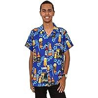 Island Style Clothing Mens Beer Bottle Shirts Hibiscus Tropical Hawaiian Party Shirts Bucks